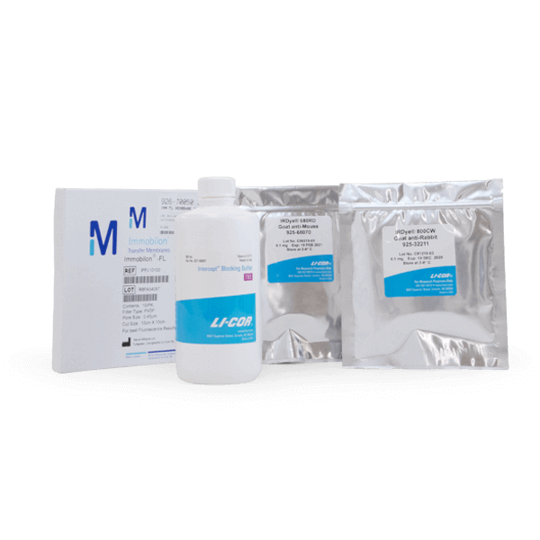 Western Blotting Kit with IRDye 680RD GAM and TBS.