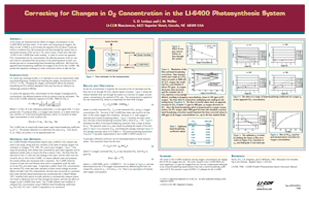 Correcting for Changes in O2 Concentration in the LI-6400 Photosynthesis System
