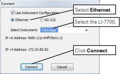 AirLink Cellular   Configuring the instrument network settings