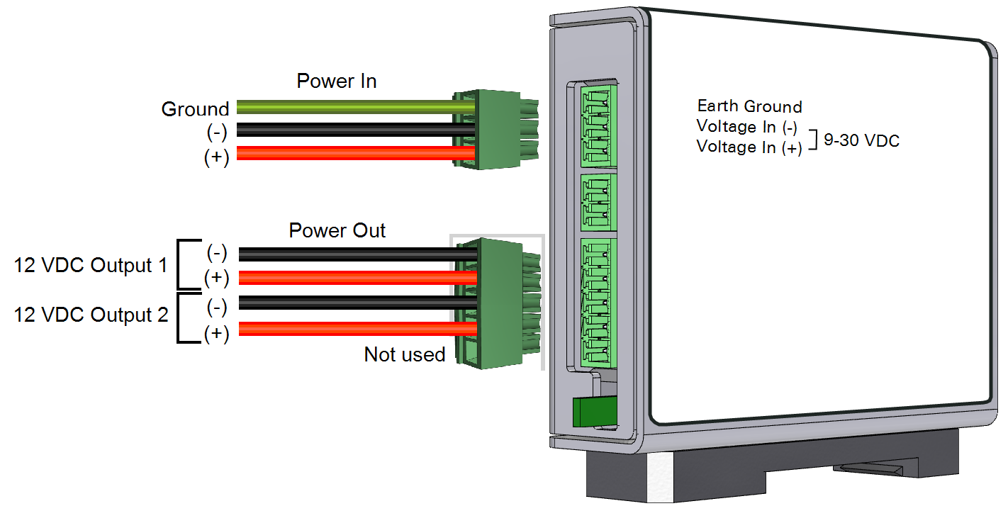Power Distribution Using The Voltage Regulator 6400 Converter Wiring Diagram Device Has Three Terminal Strip Connections In And Out Are Used This Application