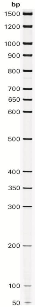 50-1500 bp DNA Sizing Standard IRDye data